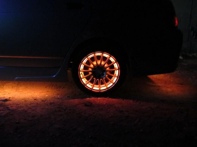 Подсветка колес своими руками
