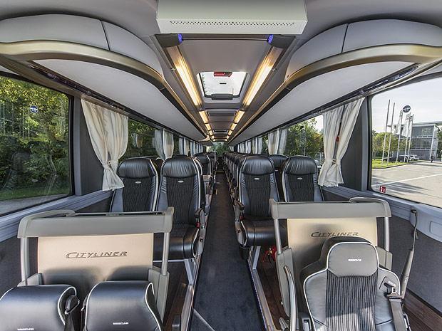 Салон автобуса MAN Neoplan Cityliner.