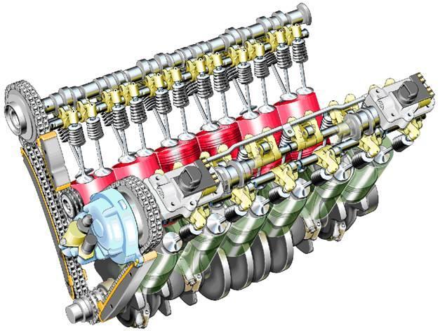 V-образный двигатель - схема расположения цилиндров двигателя внутреннего сгорания, при которой цилиндры размещаются...