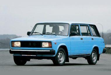 Синий ВАЗ 2104