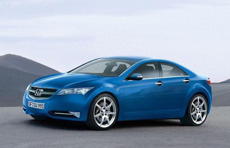 Хонда Аккорд 2010, синий пятидверный седан