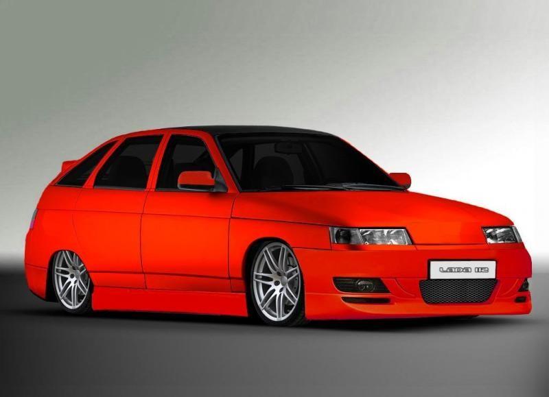 Красный ВАЗ 2112