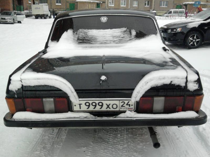 ГАЗ 3102 вид сзади