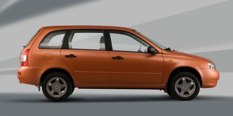 Оранжевый универсал Лада Калина