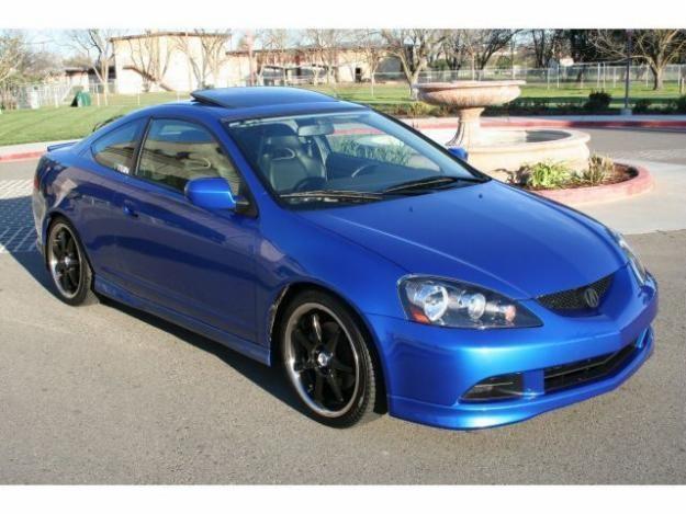 Синий Acura РSХ 2011