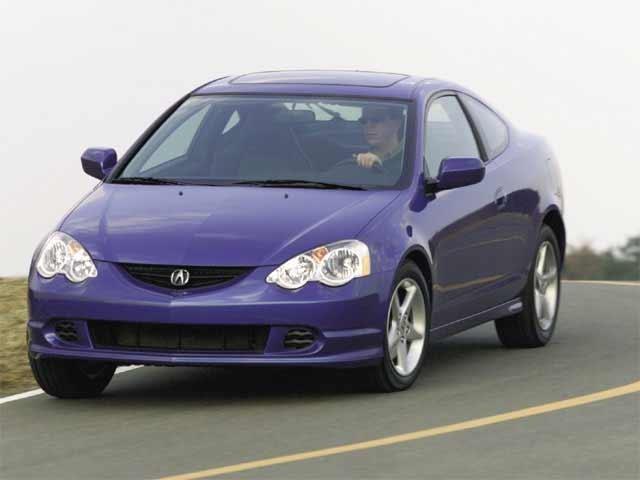 Синий Acura РSХ вид спереди