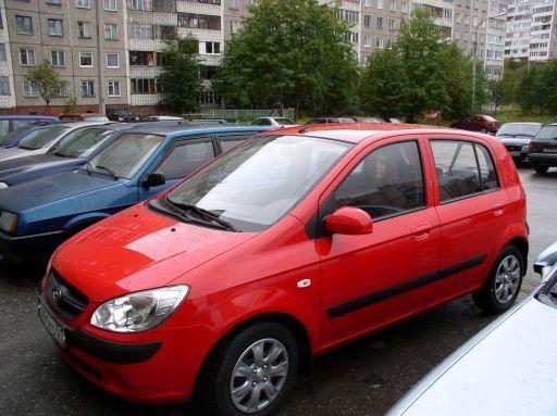 Красный Хьендай Гетс 2010