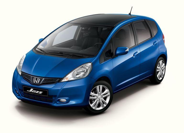Синий Хонда Джаз 2012