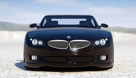 Черный BMW Z10 вид спереди