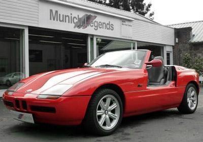 Красный кабриолет BMW Z1