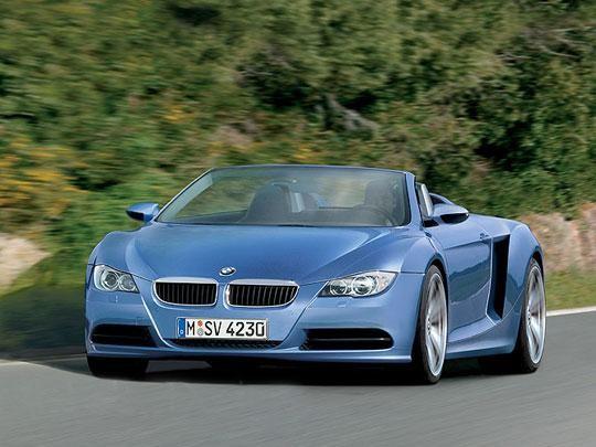 Синий BMW Z10 вид спереди