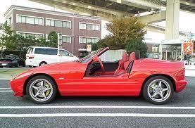 Красный кабриолет BMW Z1 вид сбоку