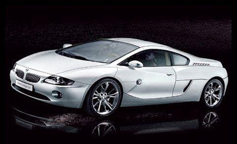 Серебристый BMW Z10 вид сбоку