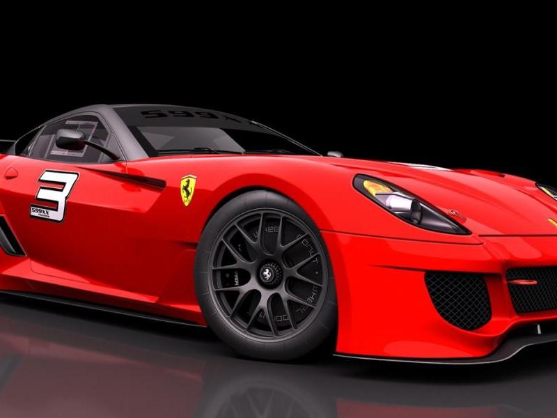 Красный спортивный Феррари 599хх