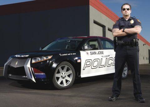 Полицейский автомобиль Carbon Motors E7