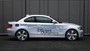 Серебристый BMW ActivE вид сбоку