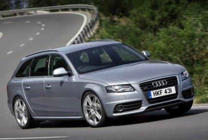 Серебристый Audi A4 Avant