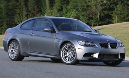 Серебристый купе BMW M3 Frozen вид сбоку