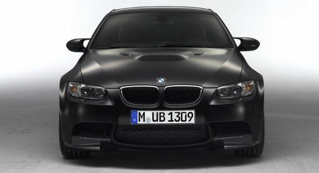 Черный BMW M3 Frozen вид спереди