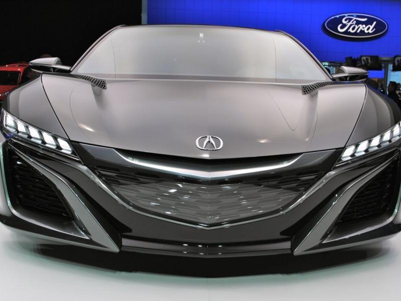 Черный концепт Acura NSX вид спереди