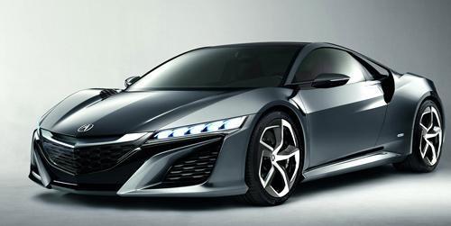 Концепт Acura NSX вид спереди