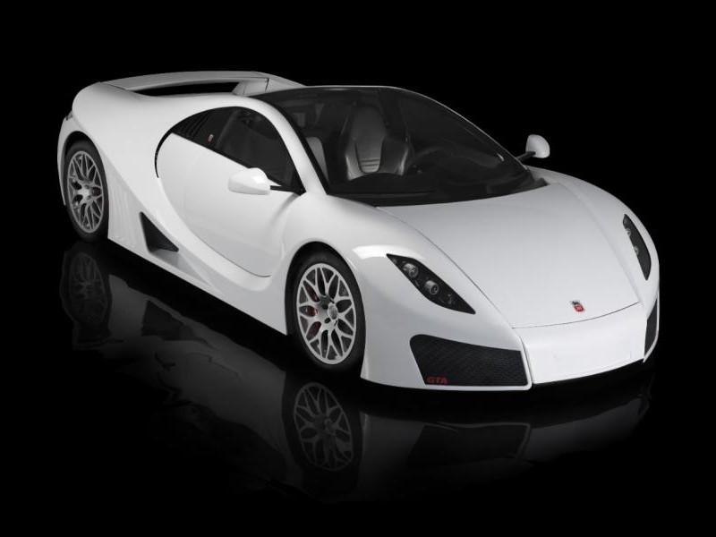 Белый GTA Spano 2013