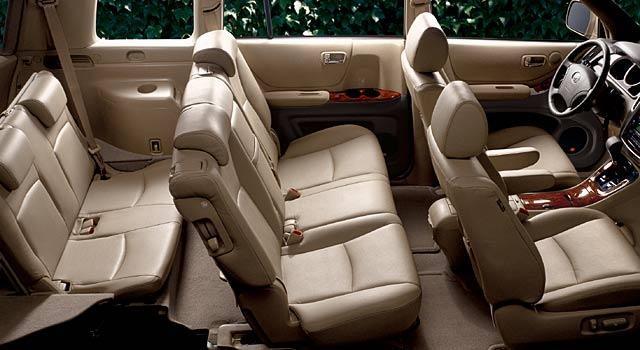 Кожаный 7-местный салон Toyota Highlander 2013