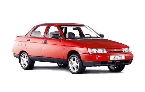 Красный седан ВАЗ 2110