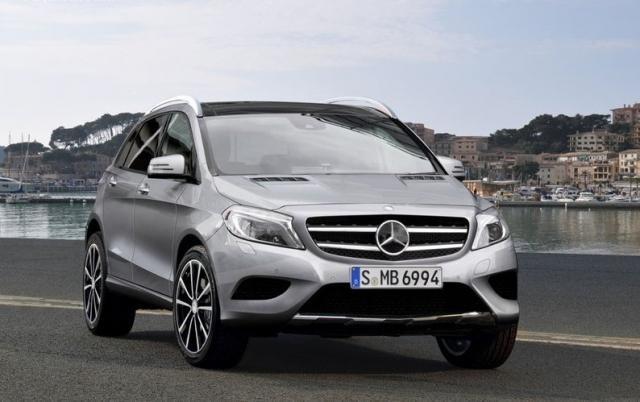 Концепт Mercedes GLA вид спереди