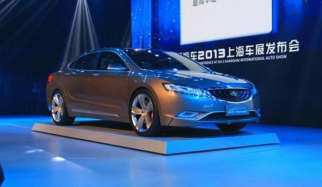 Новый серебристый концепт Geely Emgrand KC