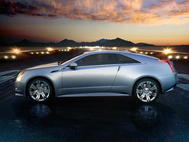 Cadillac CTS Coupe, вид сбоку
