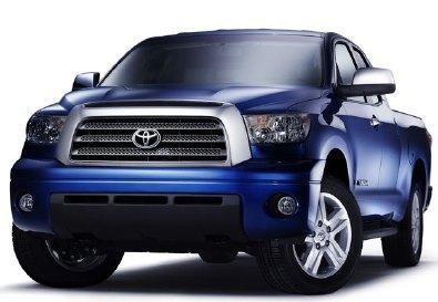 Синий практичный пикап Toyota Tundra