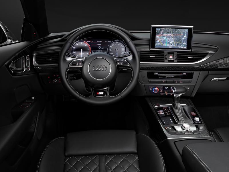 Черный салон, руль, кпп Audi S7 Sportback