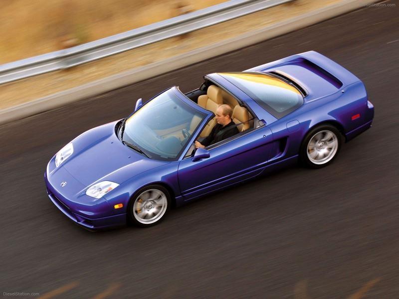 Синий быстрый Honda NSX