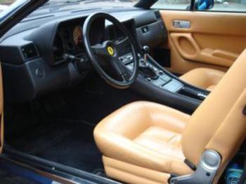 Бежевый салон, руль, кпп Ferrari 412