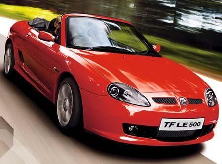 Красный быстрый кабриолет MG TF