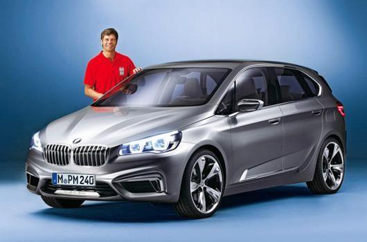 Серебристый хэтчбек BMW 1-Series GT