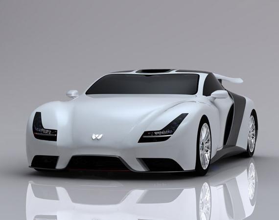 Белый Weber Faster One 2013 вид спереди