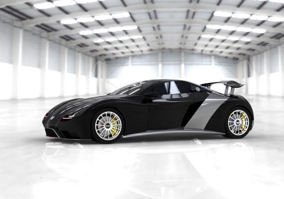 Черный Weber Faster One 2013 вид сбоку