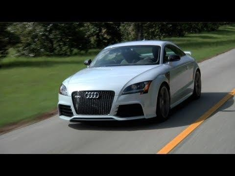 Белый купе APR Audi TT RS stage-3 на трассе