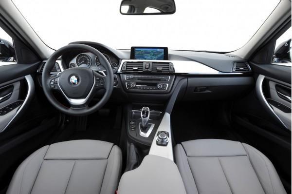Серый салон, руль, кпп, консоль BMW 3-Series ActiveHybrid 2013