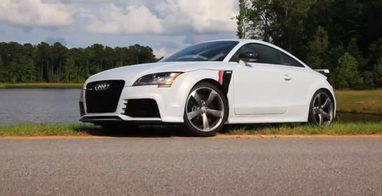 Белый купе Audi TT RS stage-3