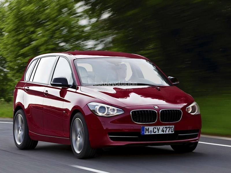 Красный хэтчбек BMW 1-Series GT