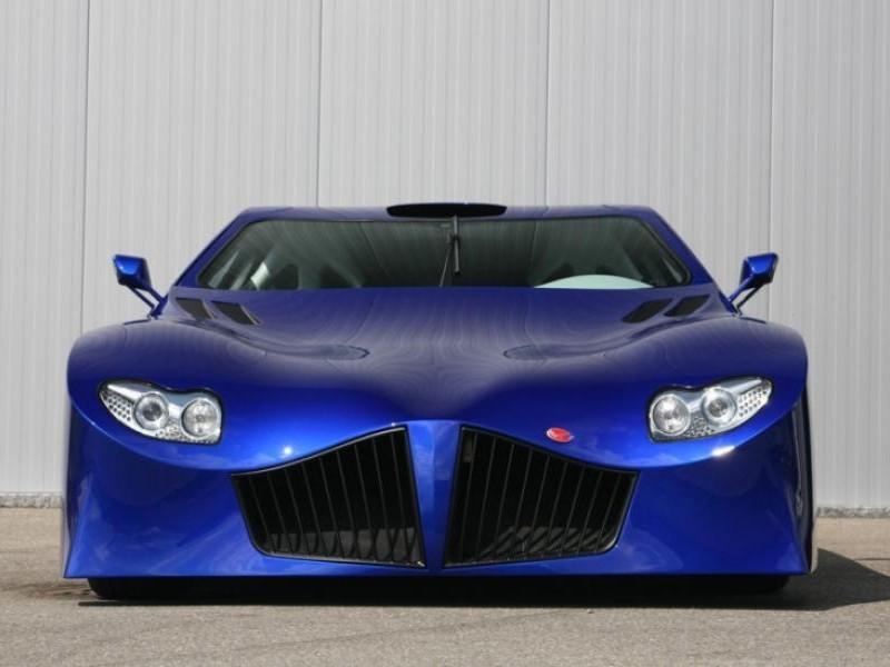 Синий Weber Faster One 2013, вид спереди