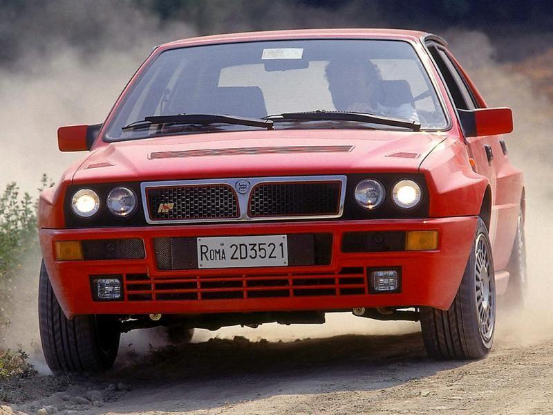 Красный практичный Lancia Delta HF Integrale Evoluzione (831)