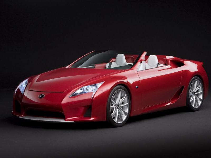 Красный роскошный купе Lexus LFA
