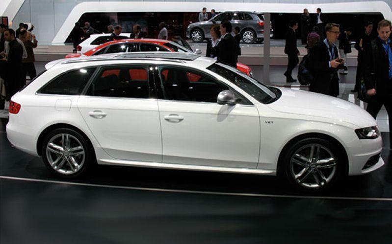 Белый Audi S4 Avant