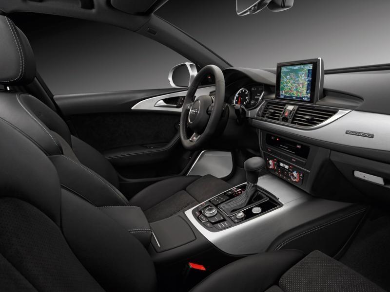 Черный салон, руль, кпп, консоль Audi A6 Avant