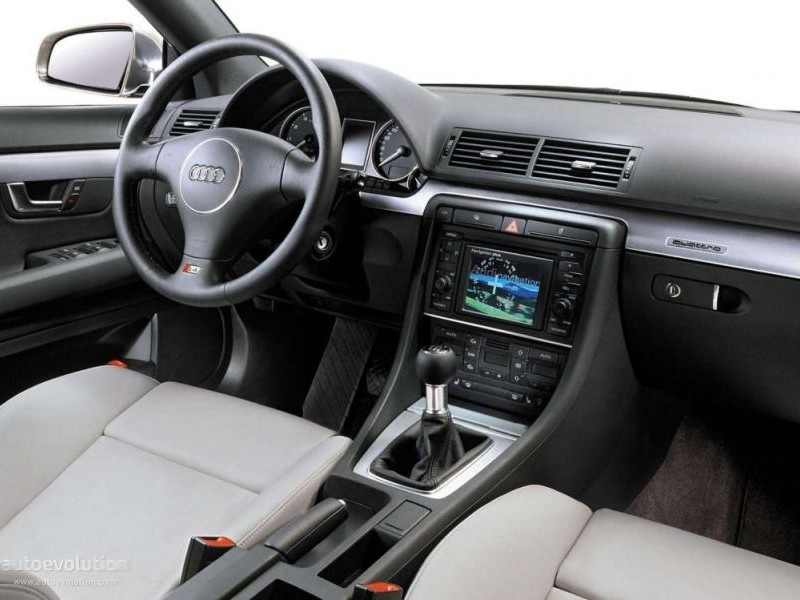 Бежевый салон, руль, кпп, консоль Audi S4 Avant