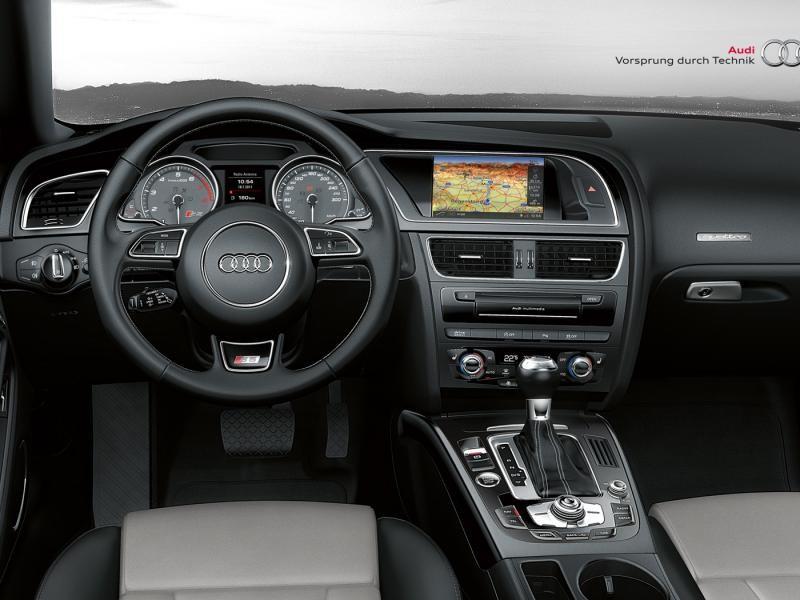 Салон, консоль, руль, кпп Audi S5 Coupe